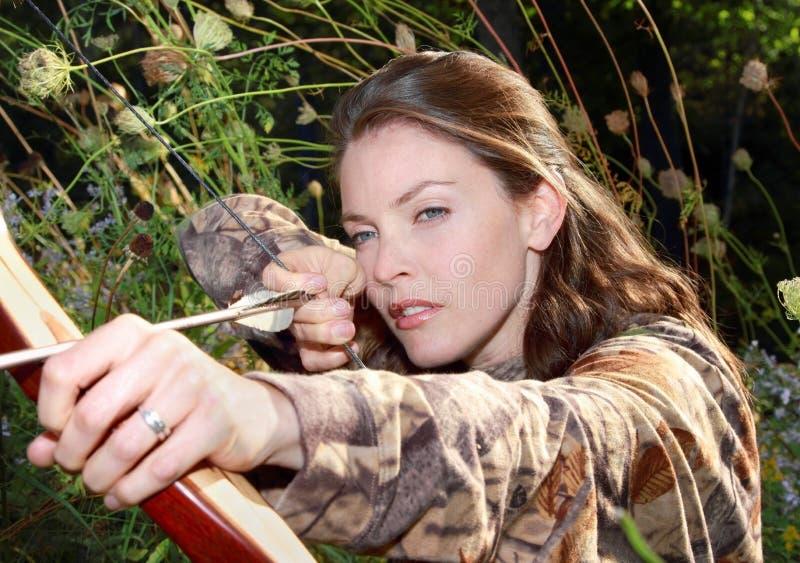 妇女狩猎 库存照片
