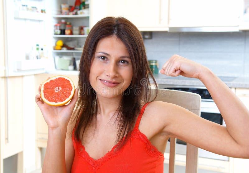 妇女用葡萄柚 库存图片
