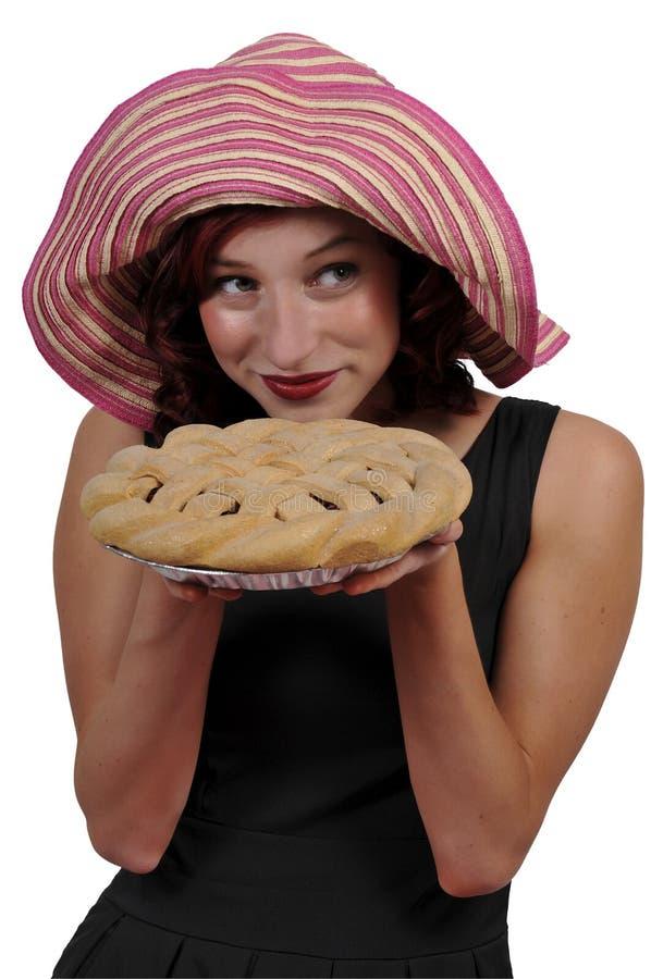 妇女用饼 免版税图库摄影