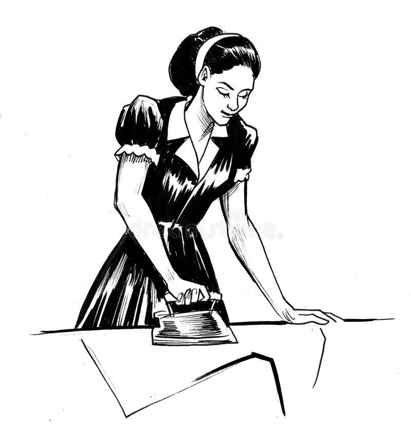 妇女电烙衬衣 皇族释放例证