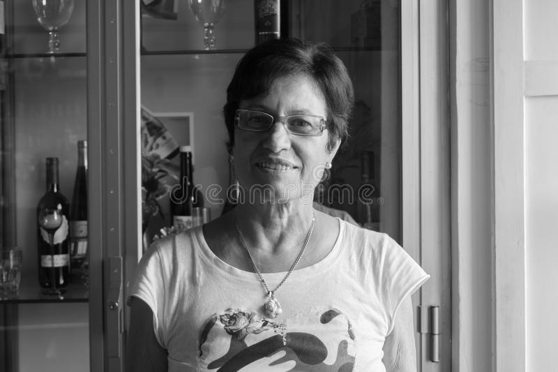 妇女画象在佩鲁贾 免版税库存图片