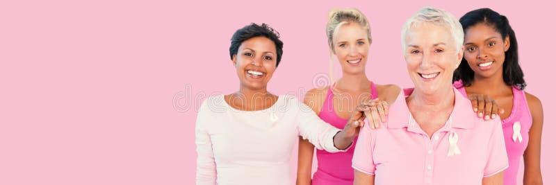 妇女画象的综合图象支持乳腺癌了悟的  库存照片