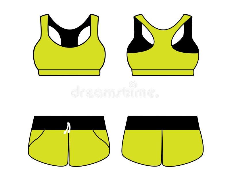 妇女的体育内衣 胸罩和短裤 皇族释放例证
