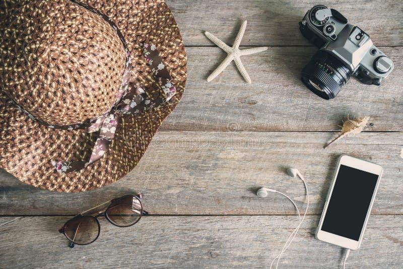 妇女的偶然成套装备,女性旅客成套装备  库存照片