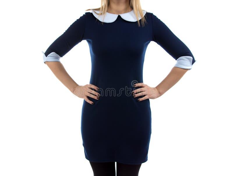 妇女的图象有胳膊的在臀部 免版税库存照片