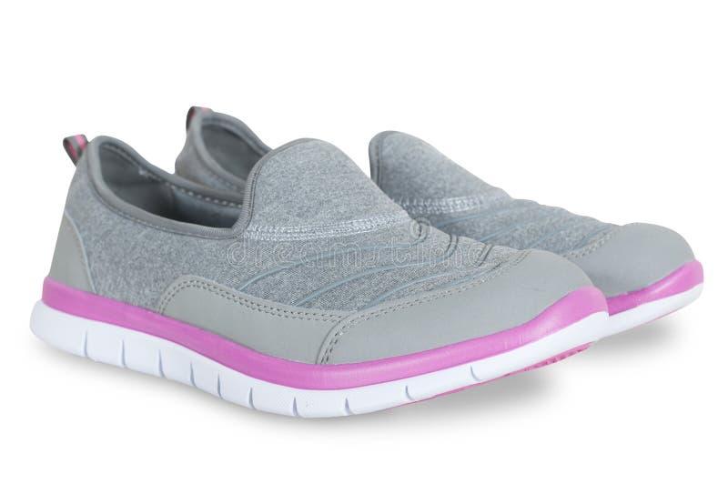 妇女的夏天鞋子被隔绝 免版税库存照片