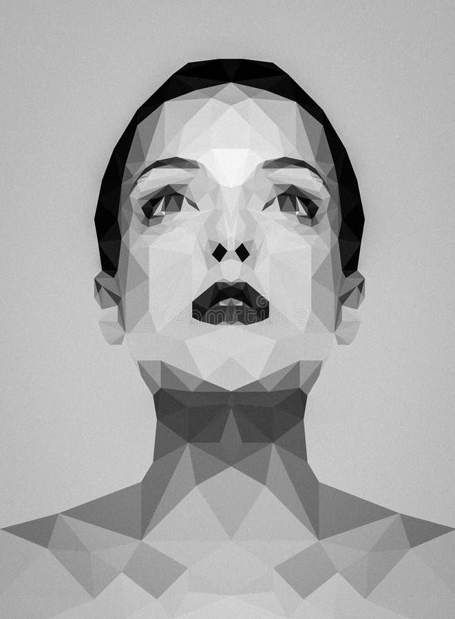 妇女的多角形图象 库存照片