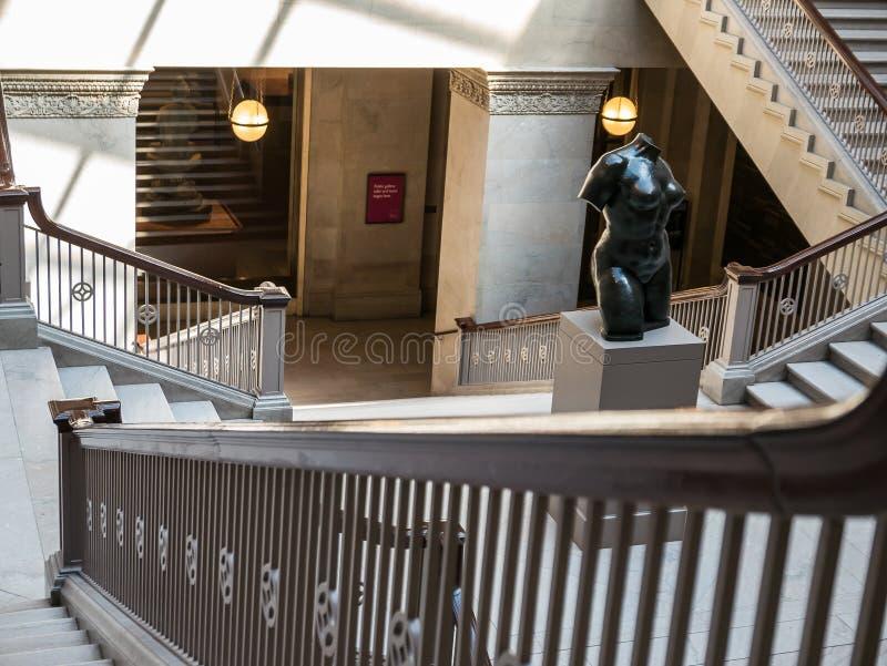 妇女的委员会豪华楼梯 艺术芝加哥学院 库存照片
