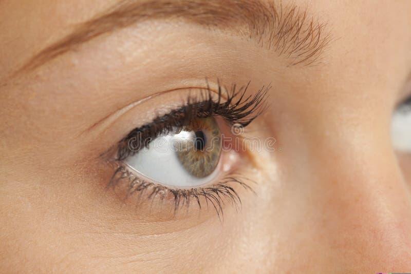 妇女的接近的眼睛s 免版税库存图片