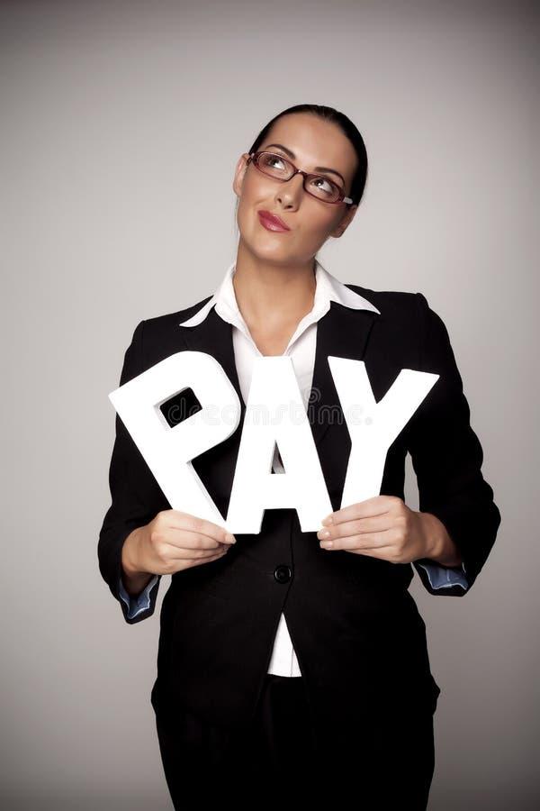 妇女的收入。 免版税库存照片