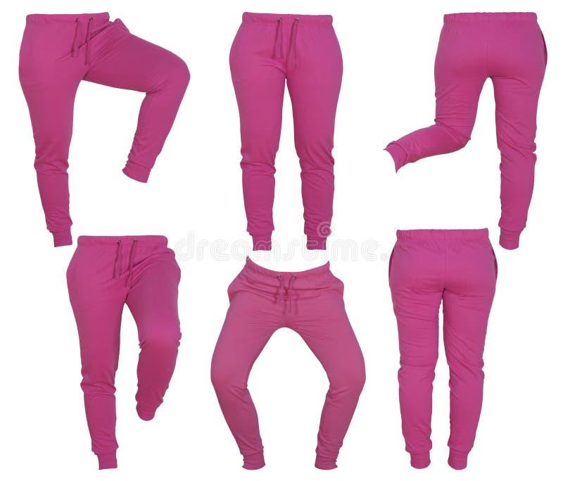 妇女的桃红色裤子拼贴画  图库摄影