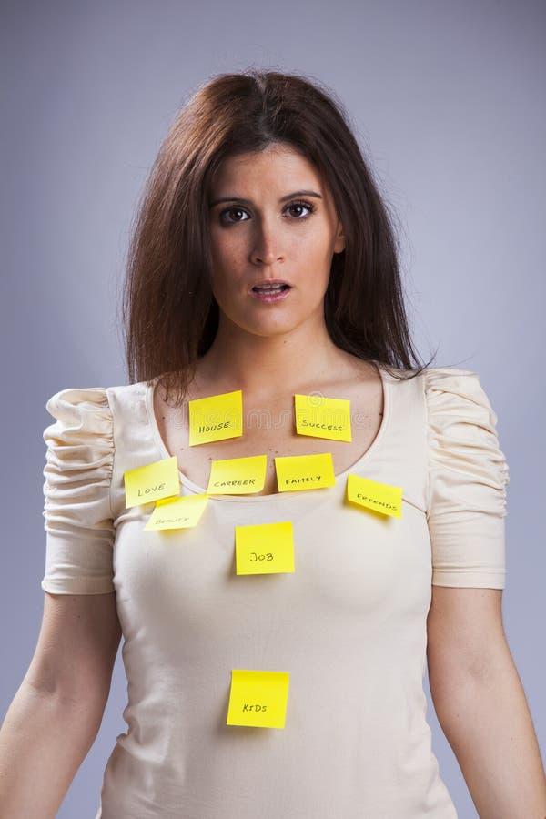 妇女的生活问题 免版税库存照片