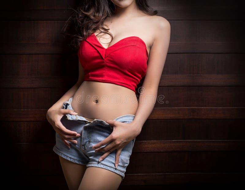妇女的美好的身体 免版税图库摄影