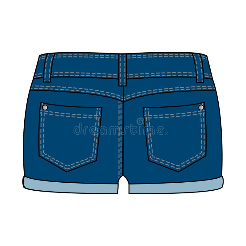 妇女的衣物-牛仔布短裤 库存例证