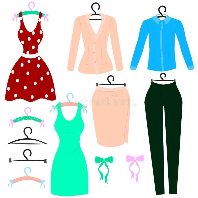 妇女的衣物 皇族释放例证