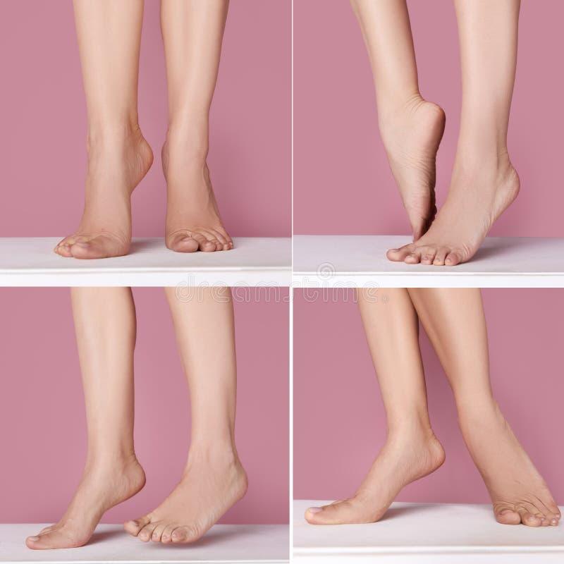 妇女的赤脚 免版税库存照片
