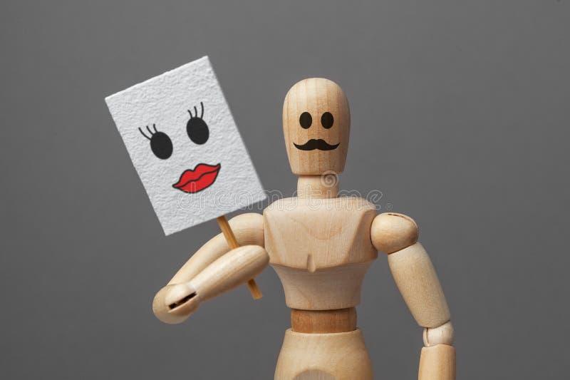 妇女的身体的人 面具或暗藏的transvistit或transsekual,潜在变性 免版税库存照片