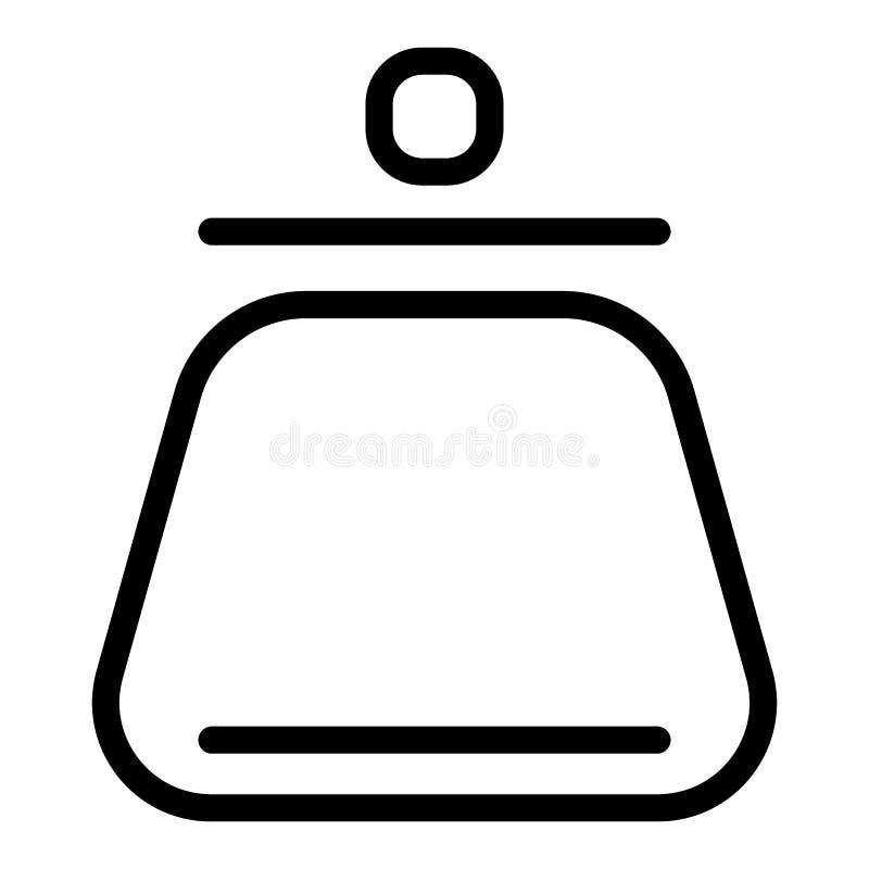 妇女的钱包线象 硬币钱包在白色隔绝的传染媒介例证 钱包概述样式设计,设计为 皇族释放例证