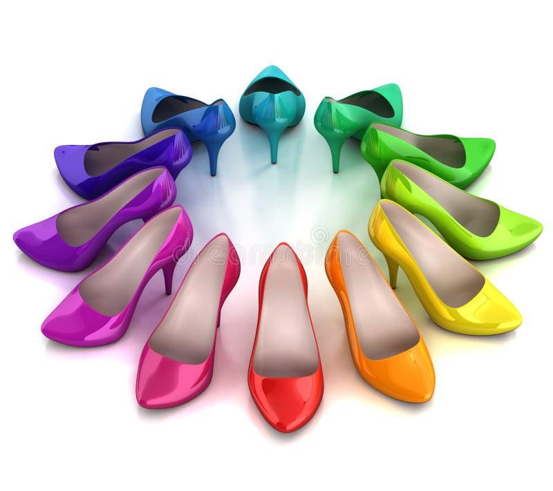 妇女的鞋子3d例证 向量例证