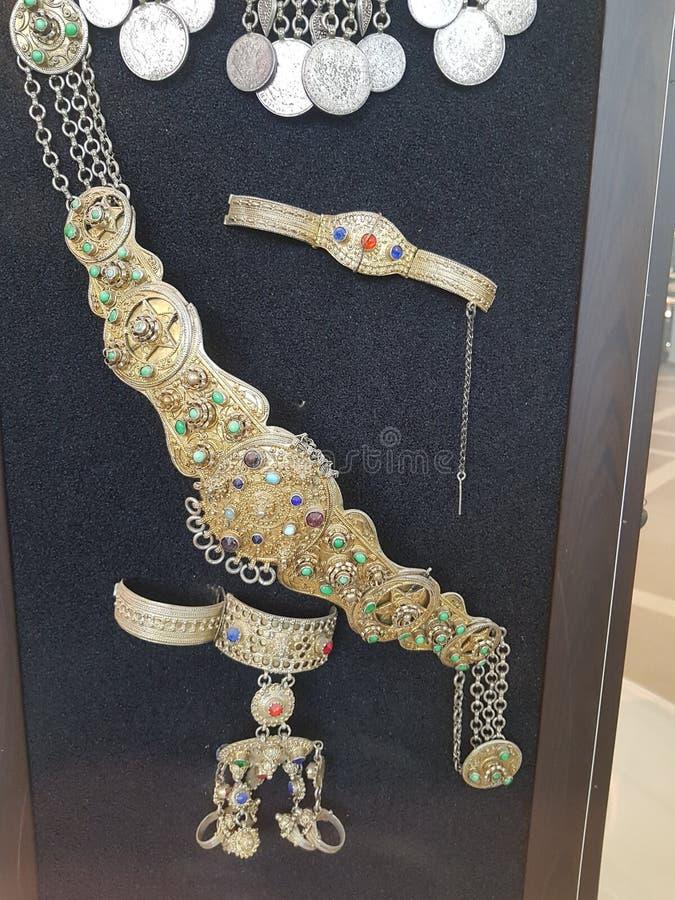 妇女的项链,首饰 图库摄影