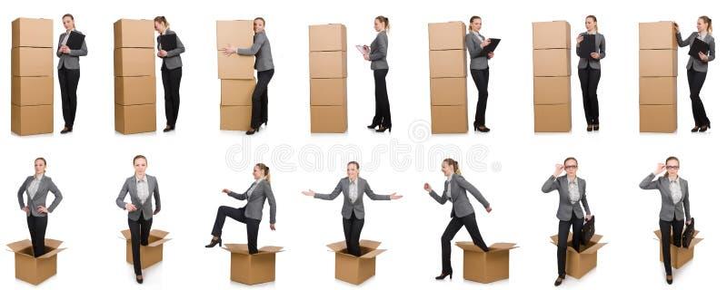 Download 妇女的综合图象有箱子的在白色 库存照片. 图片 包括有 运载, 房子, 编译, 货物, 查出, 工作, 拼贴画 - 72365138
