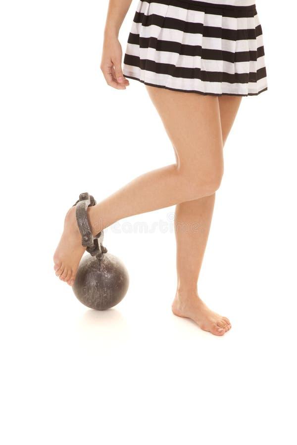 妇女监狱腿链子 免版税库存图片