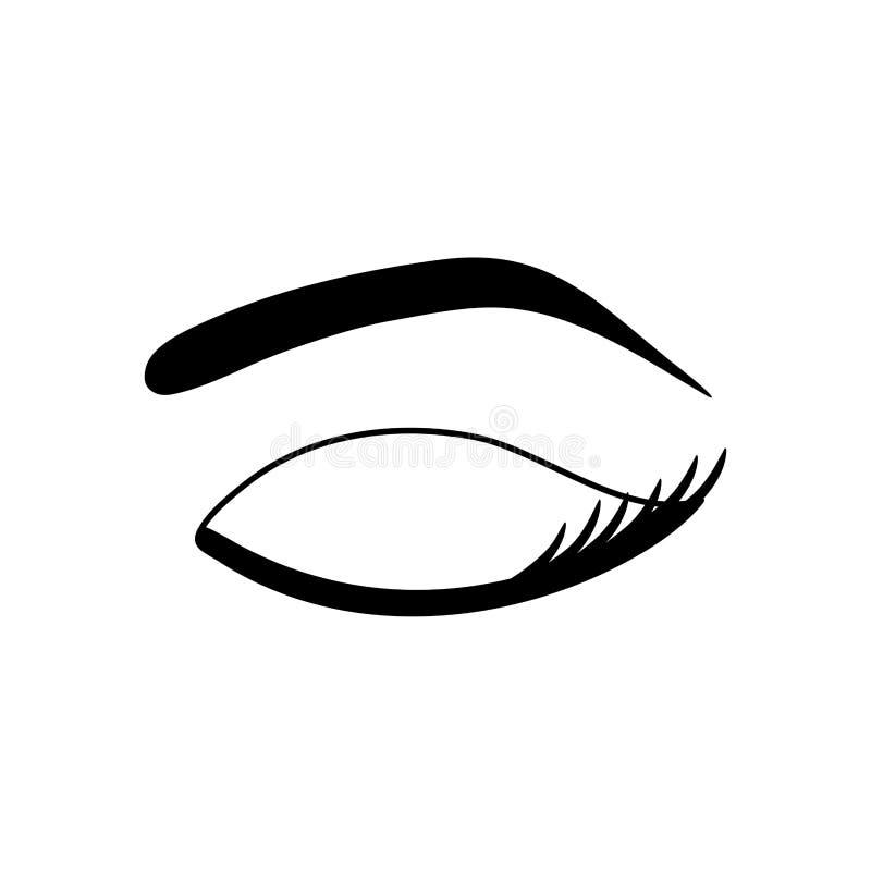 妇女眼睛特写镜头 库存例证
