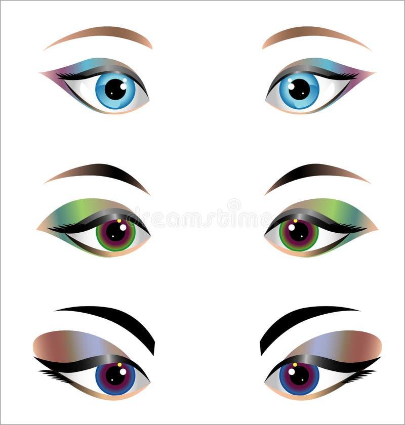 妇女眼睛-设计元素 库存例证