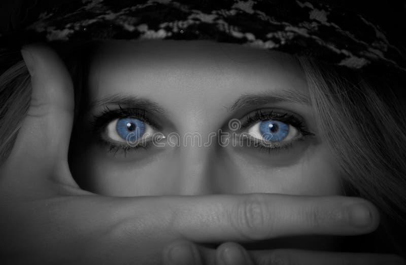 妇女眼睛 库存照片