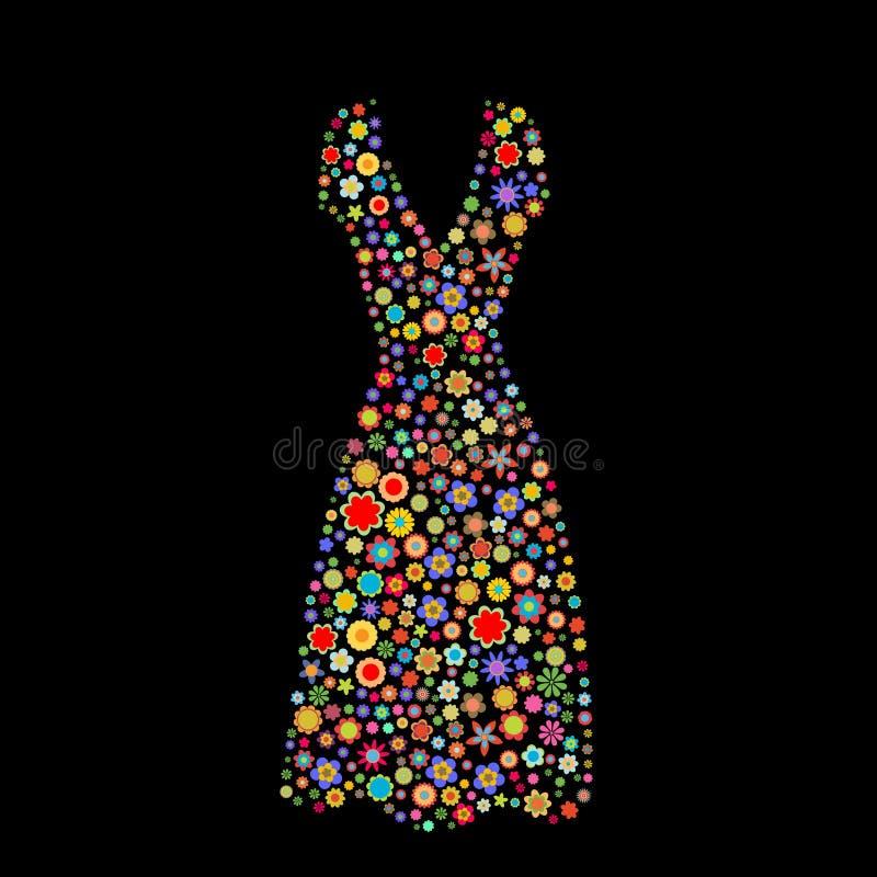 妇女礼服形状 向量例证