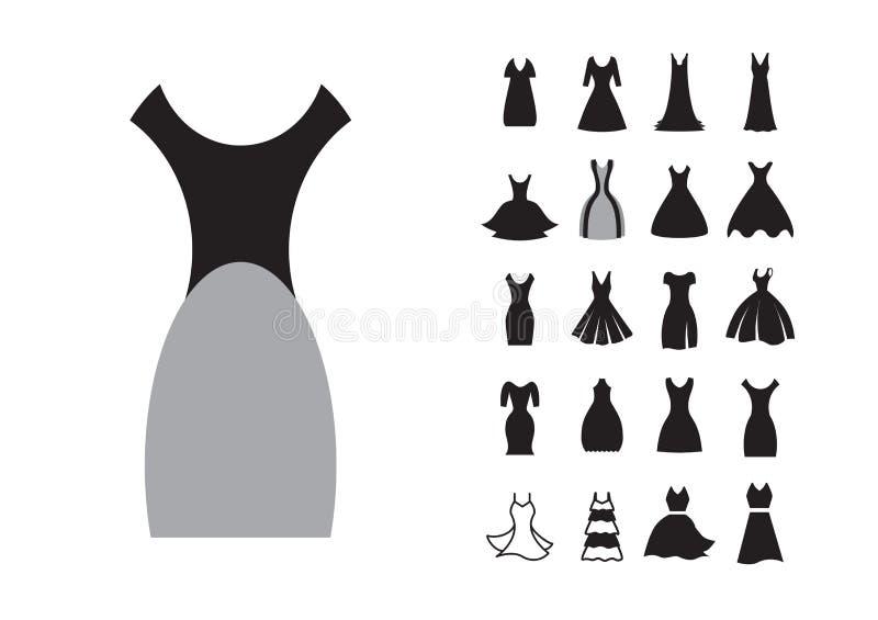 妇女礼服象 库存例证