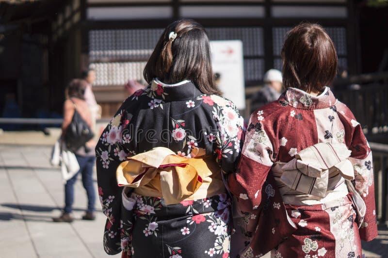 妇女穿和服 库存图片