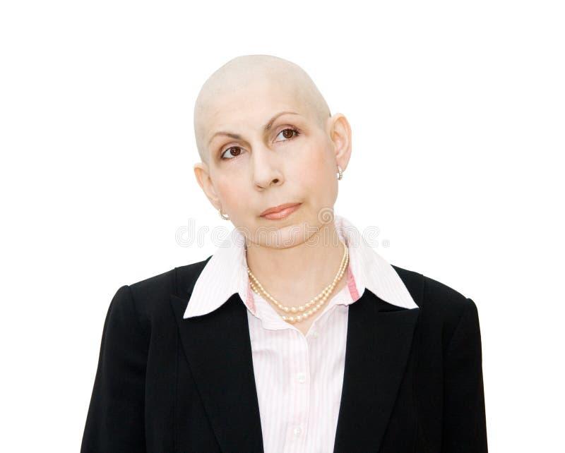 妇女经过化疗的癌症患者 免版税库存图片