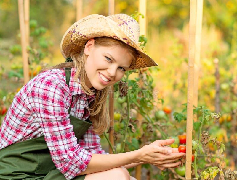 妇女花匠 免版税库存图片