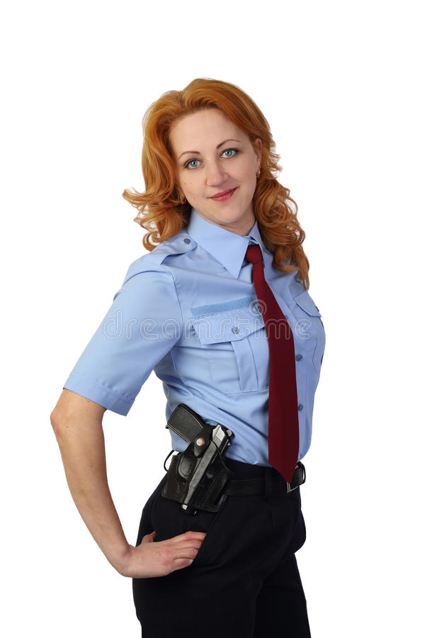 妇女警察 免版税库存照片