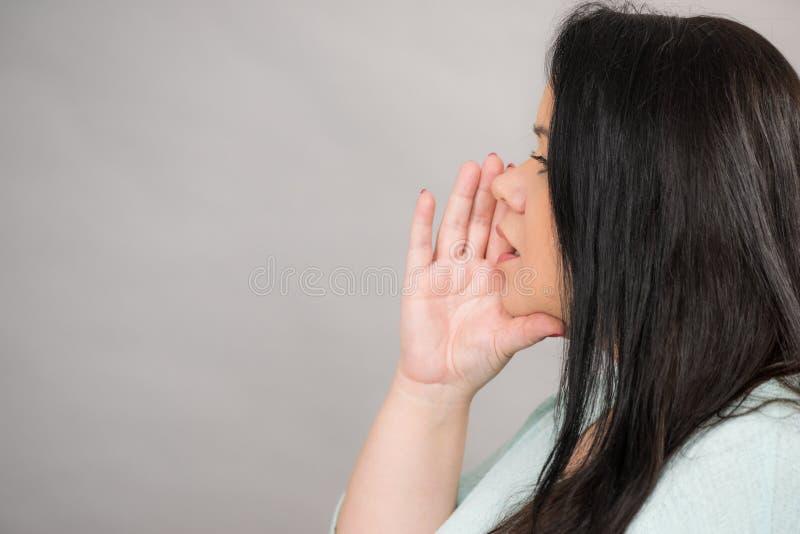 妇女谈的谣言或耳语 库存图片