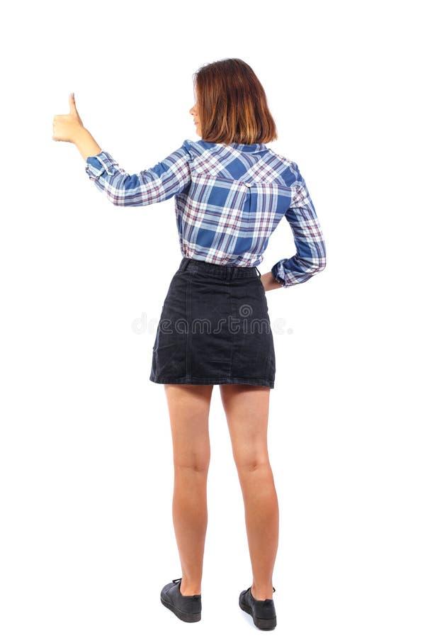 妇女赞许后面看法 库存图片