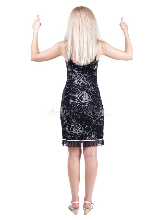 妇女赞许后面看法 免版税库存图片