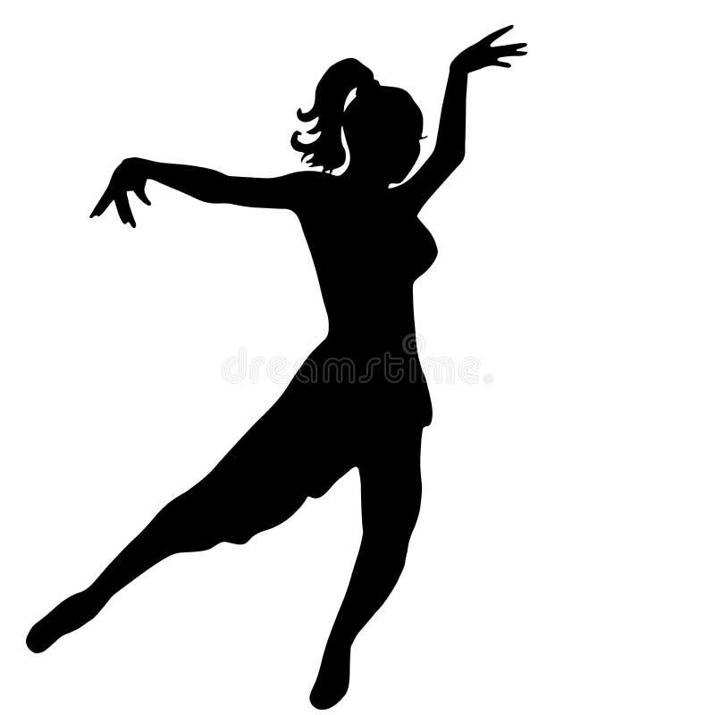 妇女跳舞拉丁美洲人 库存例证