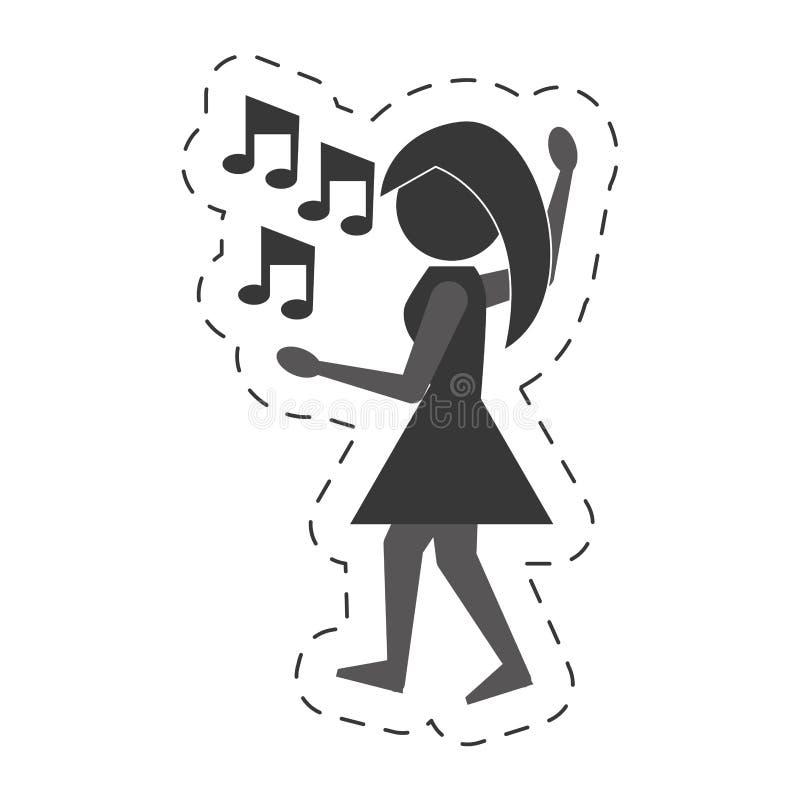 妇女跳舞象设计 皇族释放例证