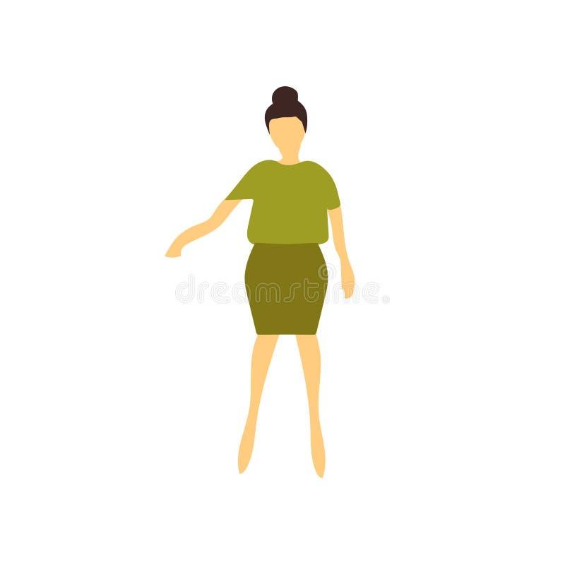 妇女身分传染媒介在白色背景和标志隔绝的传染媒介标志,妇女身分传染媒介商标概念 向量例证