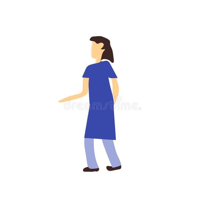 妇女身分传染媒介在白色背景和标志隔绝的传染媒介标志,妇女身分传染媒介商标概念 皇族释放例证