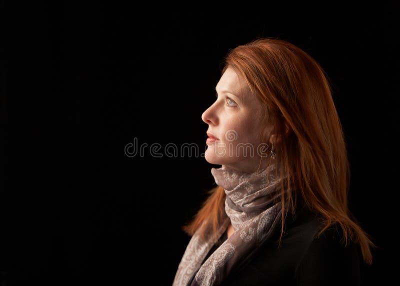 妇女配置文件 免版税图库摄影