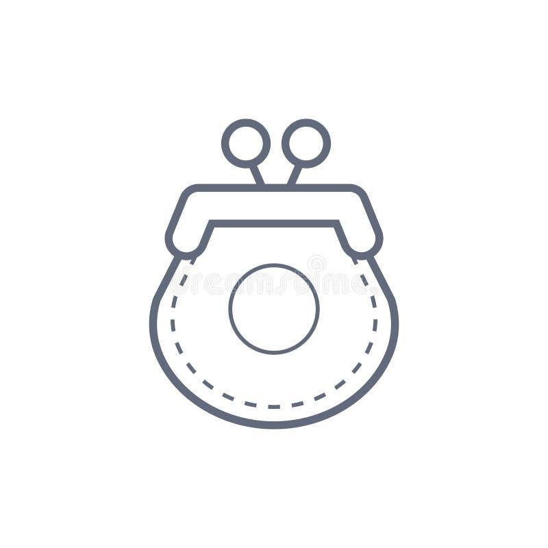 妇女钱包象 妇女事元素 标志标志汇集,网站的简单的象,网络设计,流动应用程序 库存例证