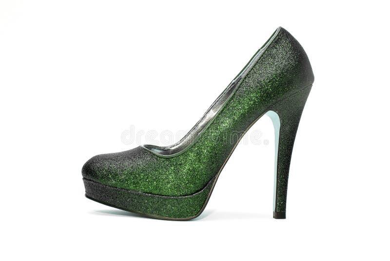妇女闪耀的高跟鞋 免版税库存照片