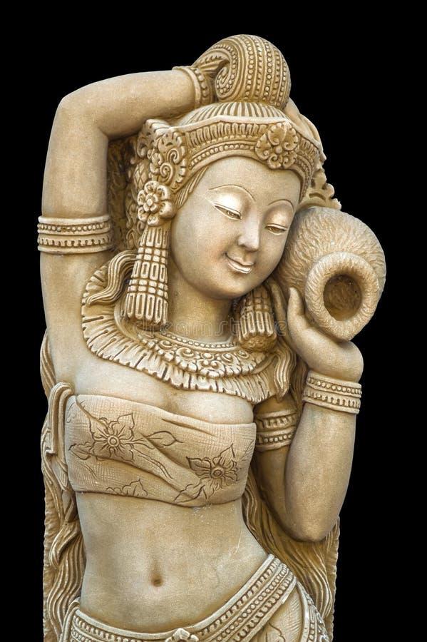 妇女雕象 库存照片