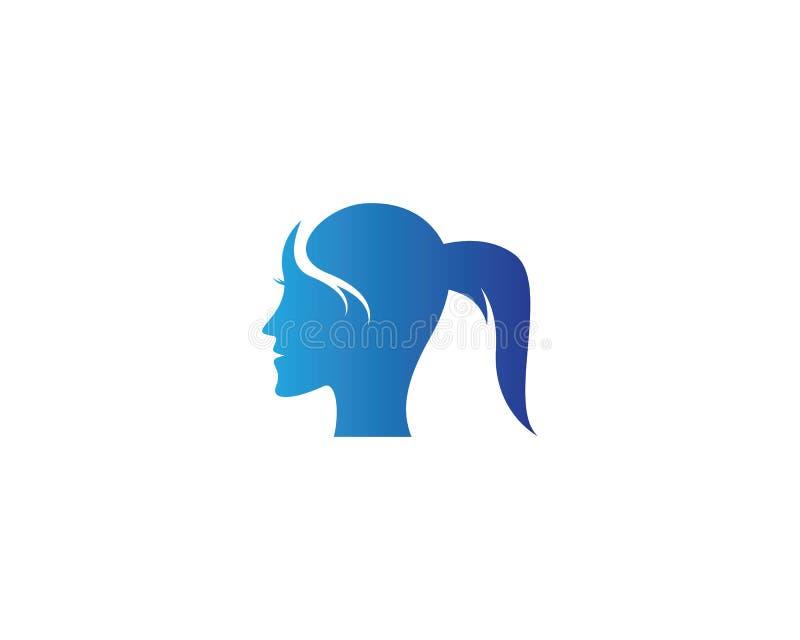 妇女面孔剪影字符 向量例证