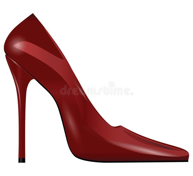 妇女鞋子 向量例证