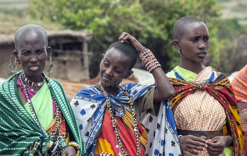 妇女马塞语玛拉画象  免版税库存图片