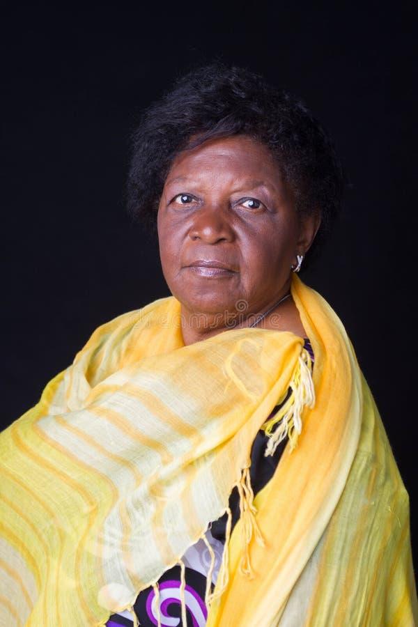 妇女高级非洲巴西 图库摄影